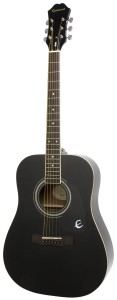 Epiphone DR-100 Acoustic Guitar, Ebony
