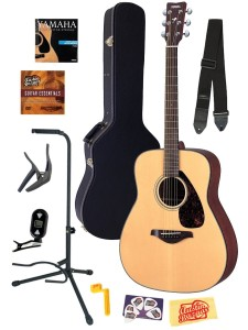 Yamaha FG700S Folk Acoustic Guitar Bundle
